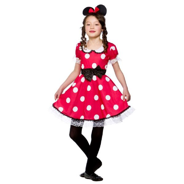 Girls Cute Mouse Costume for Animal Creature Mickey Danger Mighty Fancy Dress